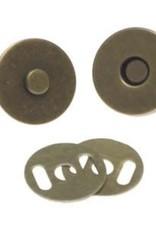 Magneetsluiting per stuk Brons 18mm