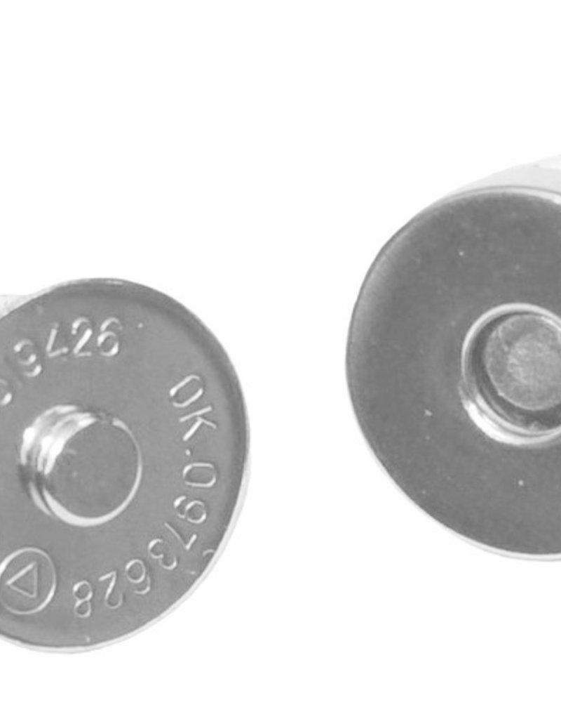Magneetsluiting per stuk Zilver 18mm