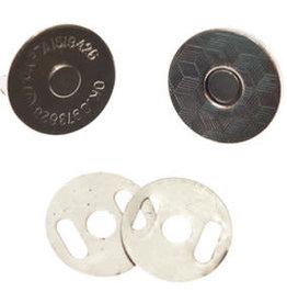 Magneetsluiting extra plat Zilver 18 mm