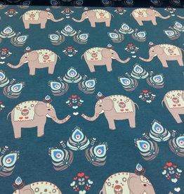 Little Darling olifanten groen/blauw