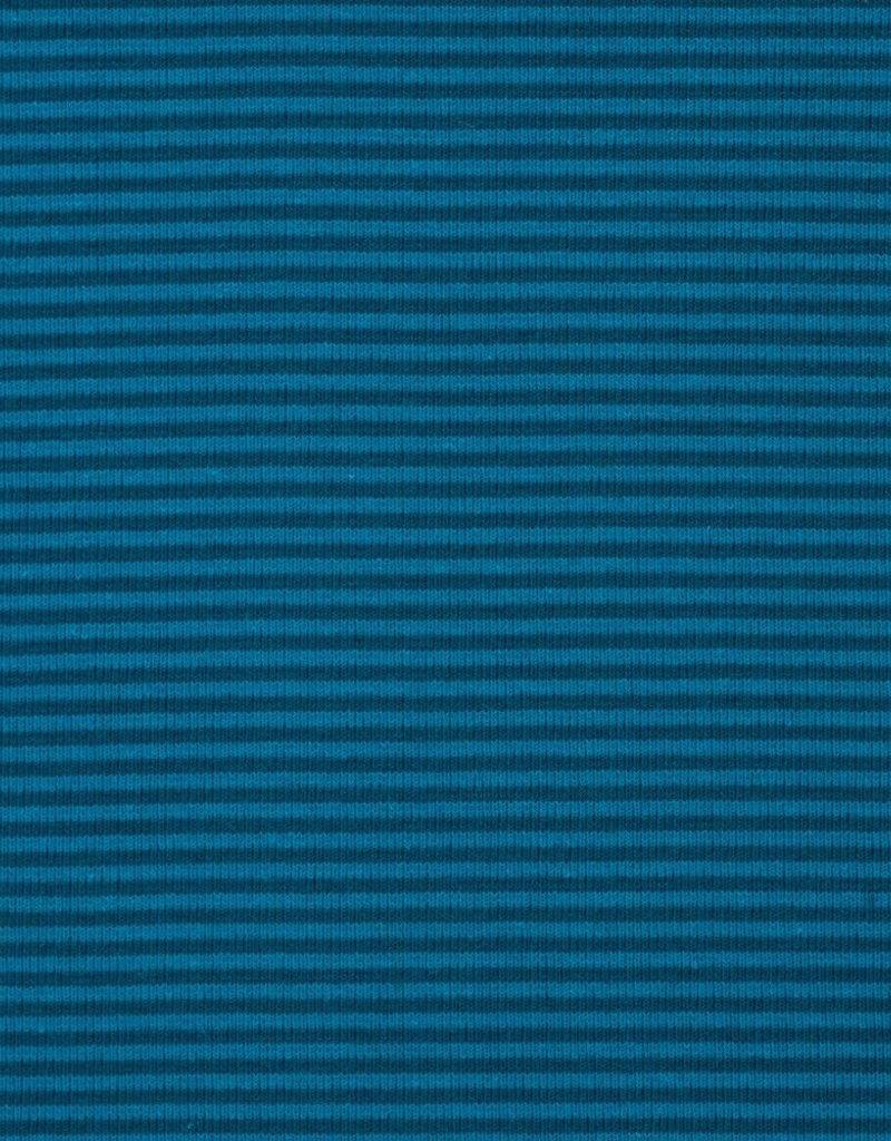 Boordstof blauw/donkerblauw gestreept