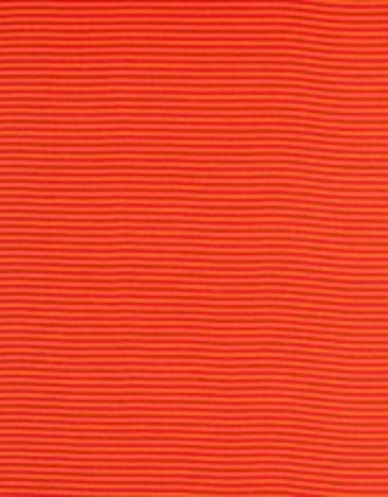 Boordstof oranje rood gestreept