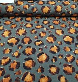 Leopard kaki oranje