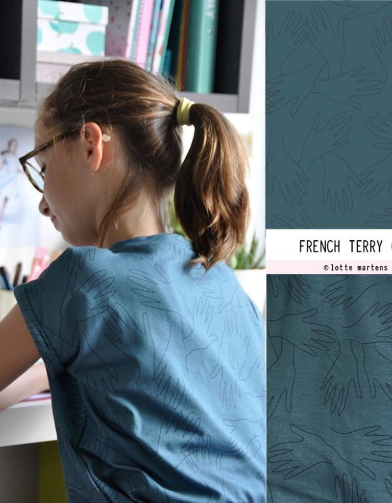 Lotte Martens Hands Mineral Blue french terry
