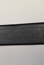 Elastiek zwart glitter