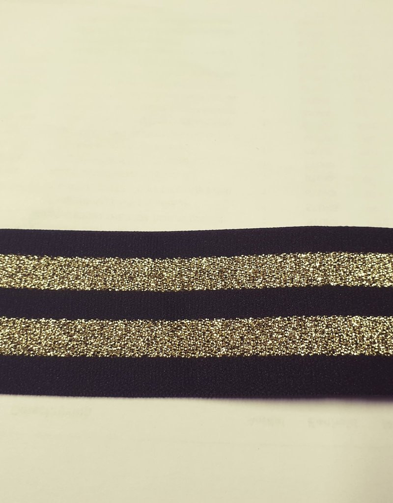 Sierlint elastisch zwart
