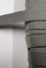 Picot elastiek grijs