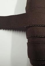 Picot elastiek bruin