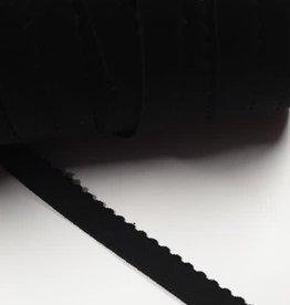 Picot elastiek 15 mm Zwart