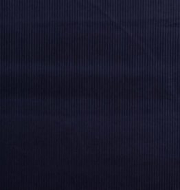 Magnus ribfluweel donker blauw