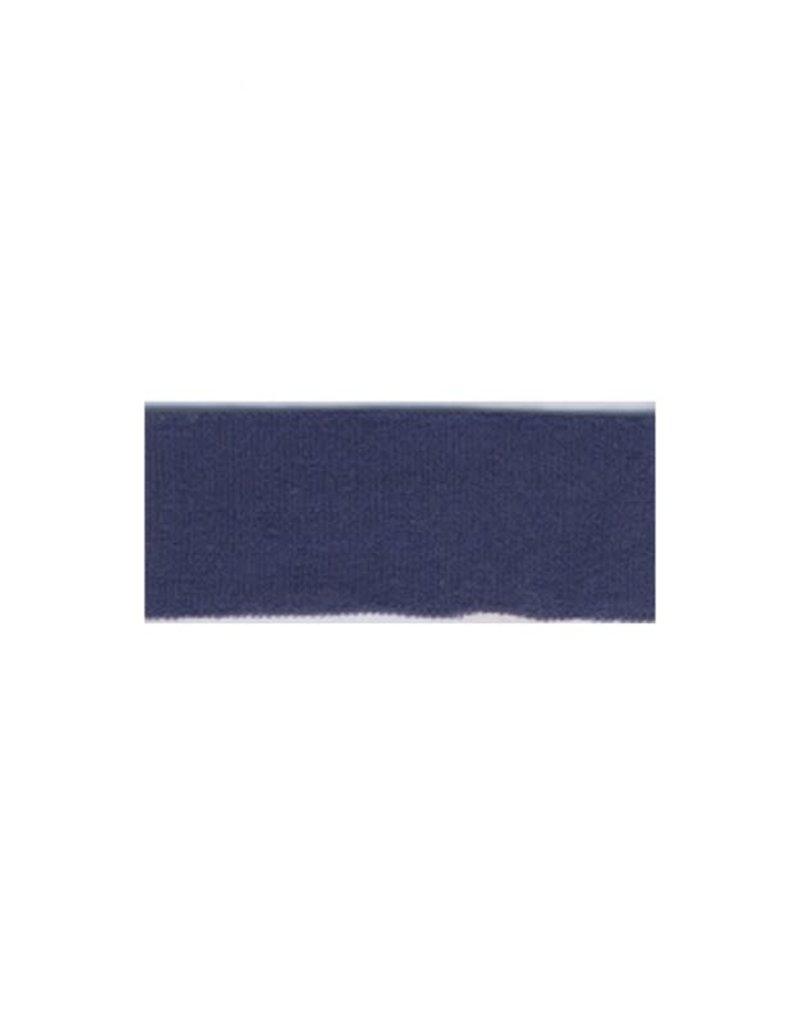 Lingerie elastiek omvouw donker blauw