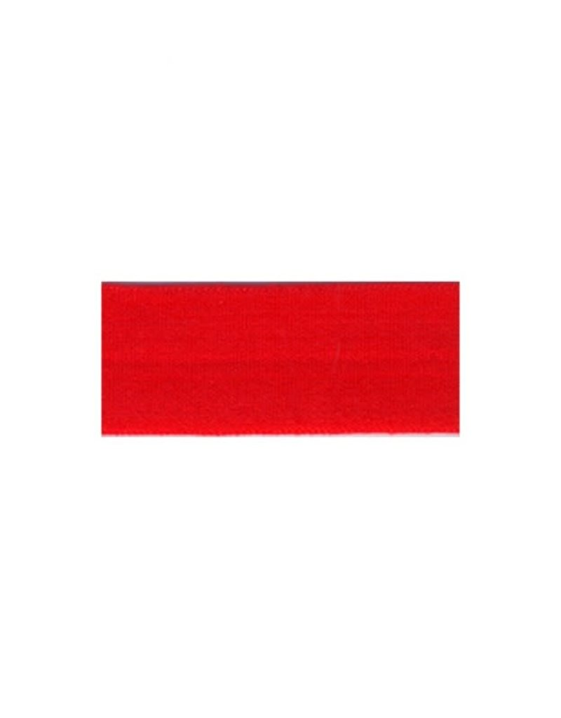 Lingerie elastiek omvouw rood