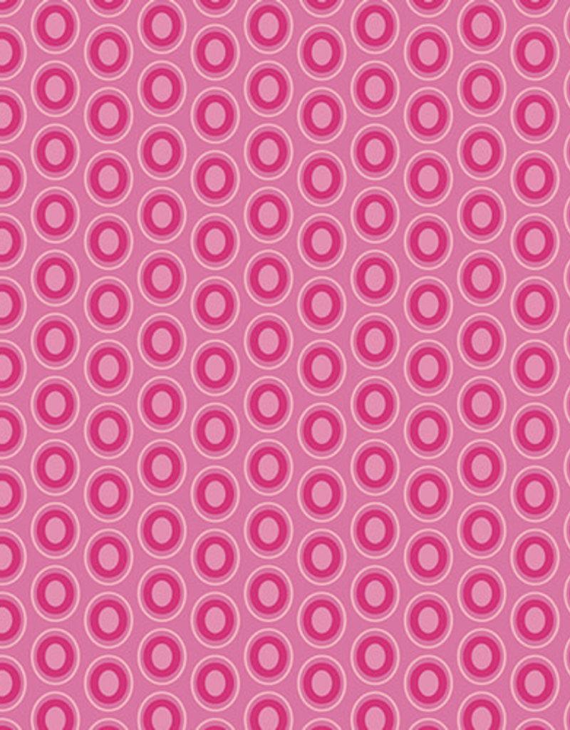 Art Gallery Fabrics AGF Oval Elements Passionate Fuchsia
