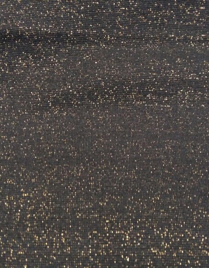 Boordstof glitter zwarte achtergrond goud glitters