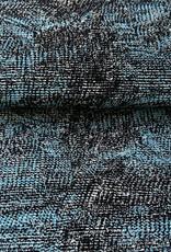 Blue plissé