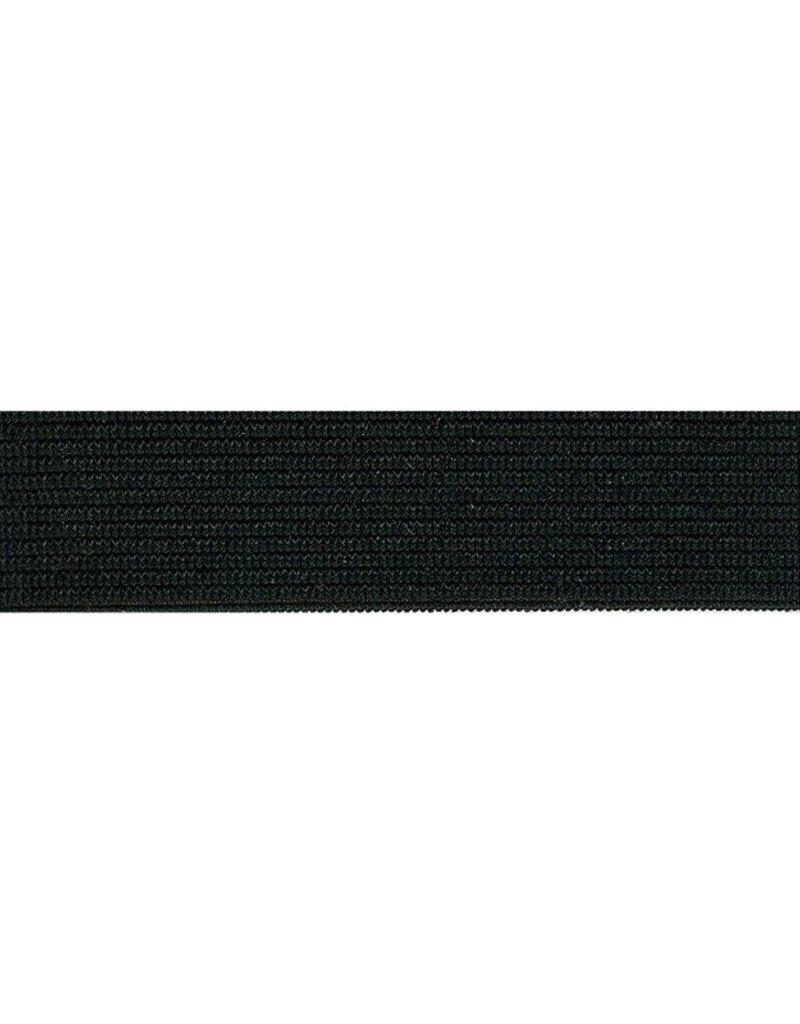 Elastiek  zwart 25 mm