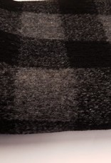 Wollen gebreide stof met ruitmotief  grijs-zwart