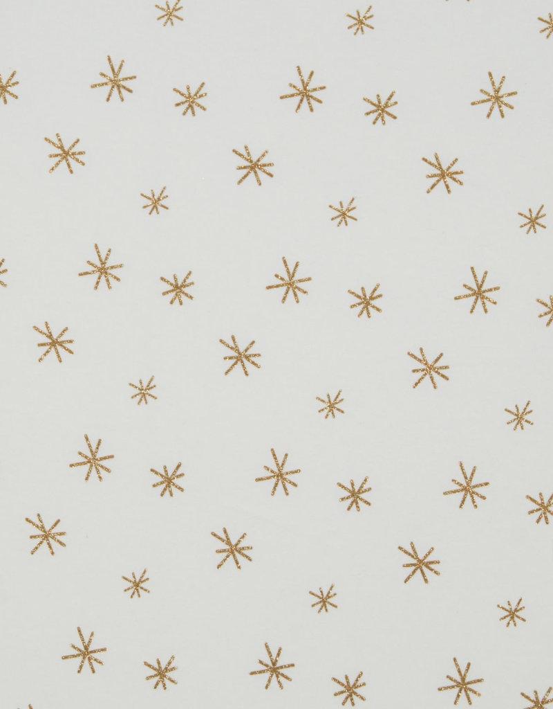 Stars glitter ecru