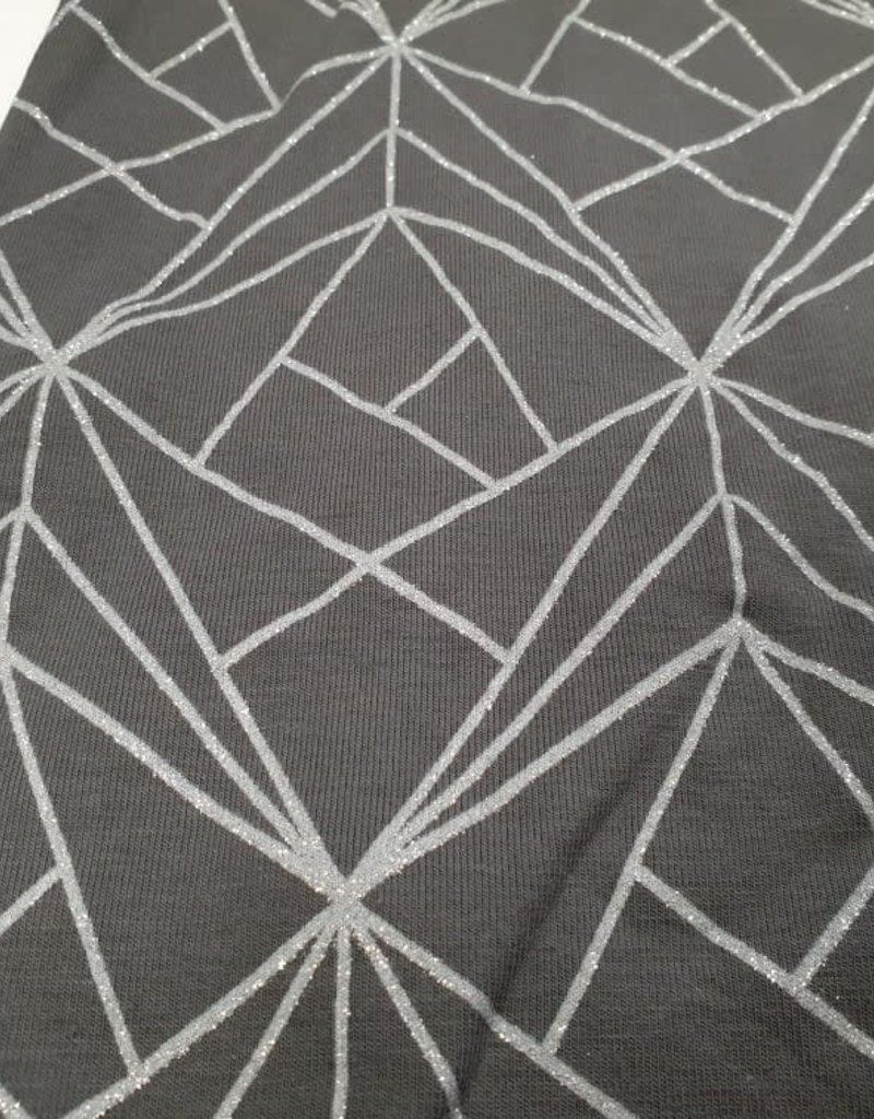 Grey glittering
