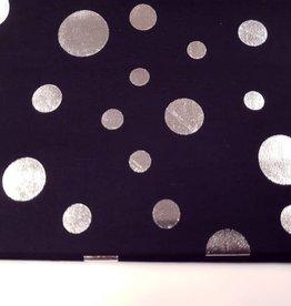 Katoen met zilver dots