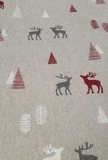 Kerst met rendieren rood