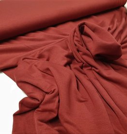 Viscose tricot donker rood