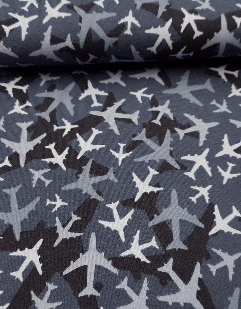 Vliegtuigen blauw