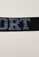 Sport elastiek 32mm  Zwart gekleurd