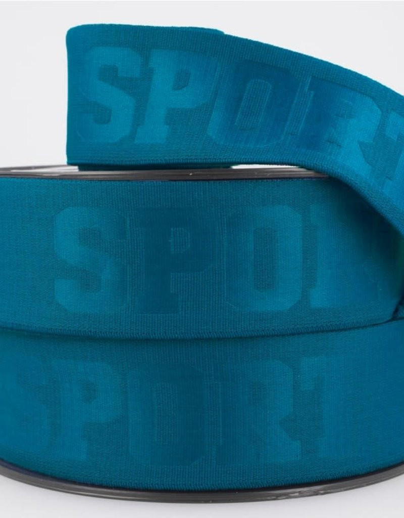 Sport elastiek 40mm  Blauw