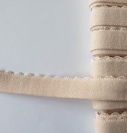 Picotelastiek 15 mm huidskleur
