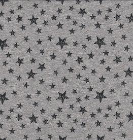 Sweater grijs met zwarte sterren
