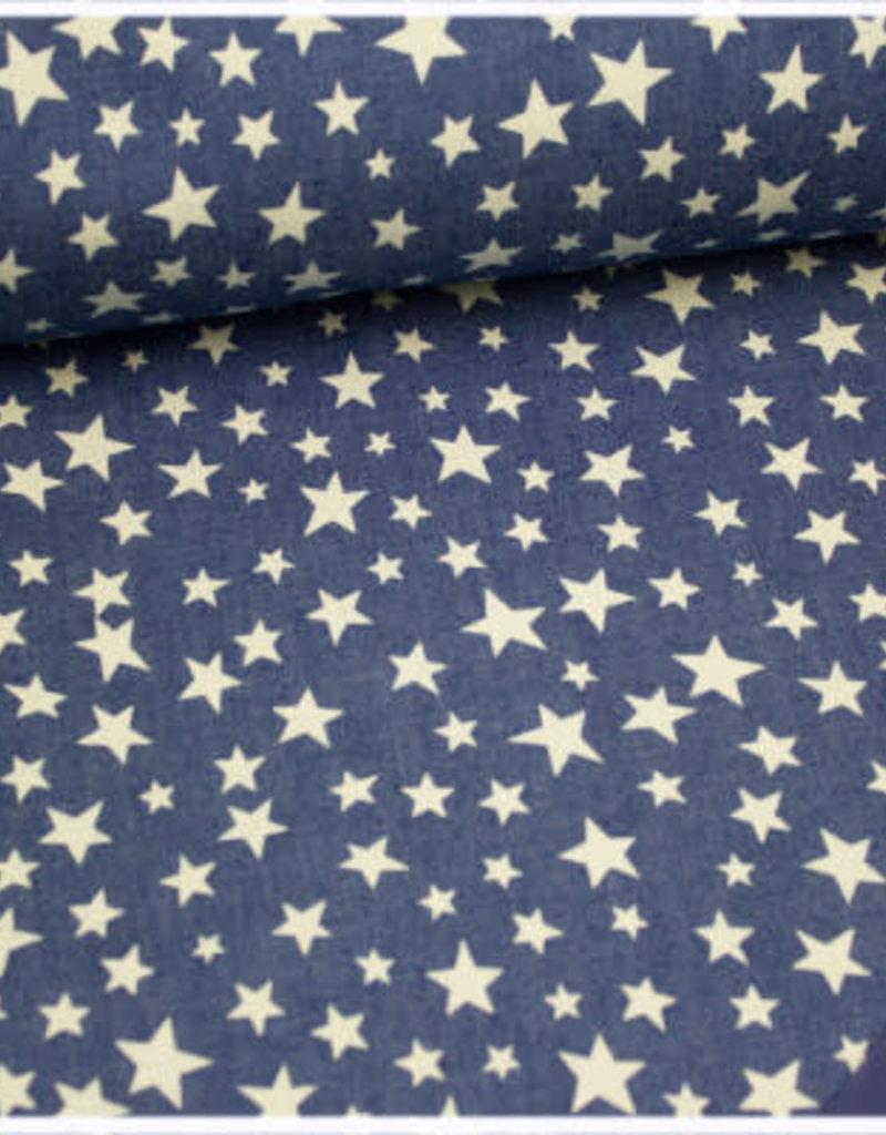 Softshell sterren blauw