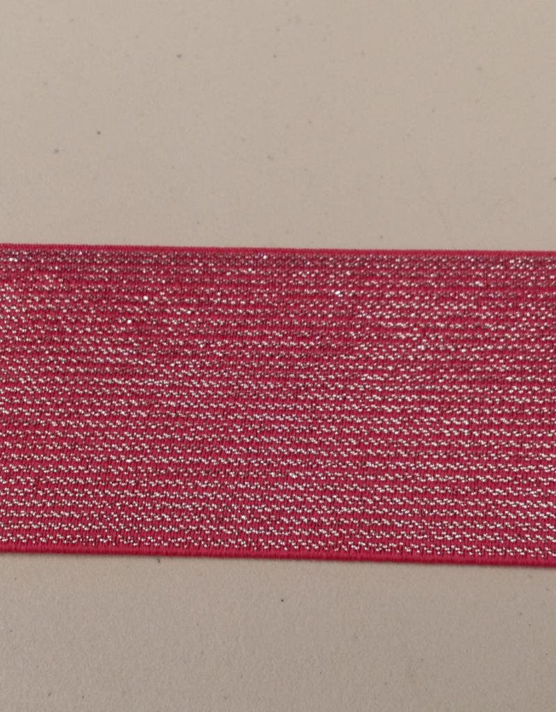 Glitterelastiek rood