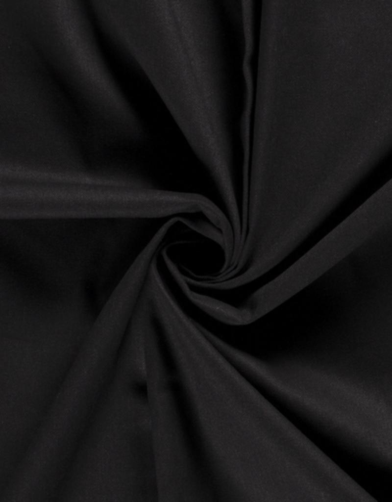 Canvas uni zwart