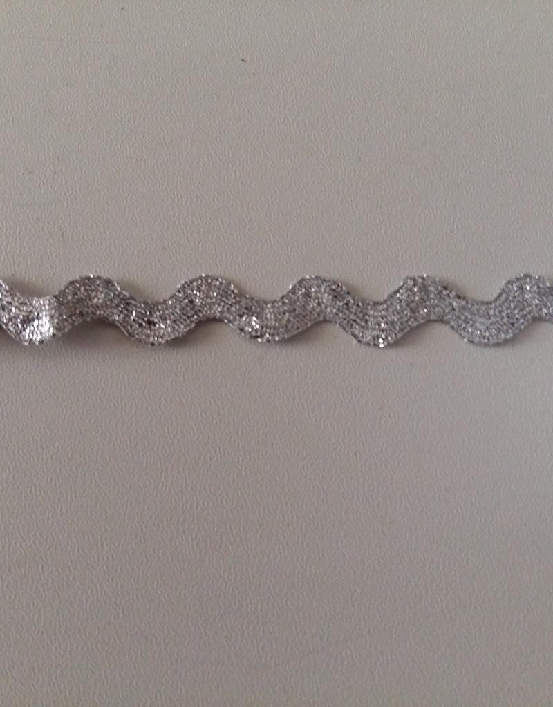Zigzag band glitter zilver