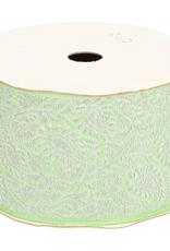 Sierband zilver groen