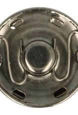 Aannaaibare drukknoop  oud zilver
