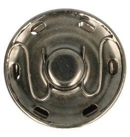 Aannaaibare drukknoop  oud zilver 19 mm