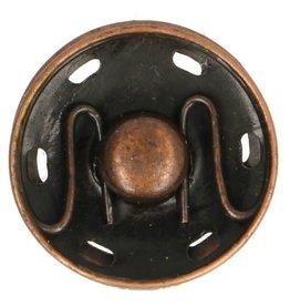 Aannaaibare drukknoop brons 19 mm