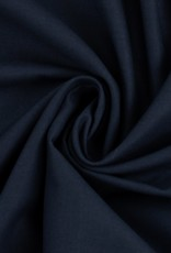 Katoen uni donker blauw