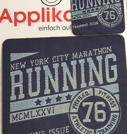 Applicatie blauw running