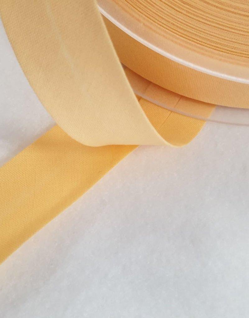 Biais katoen polyester zacht  geel