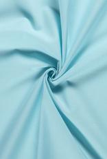 Katoen uni  mint/licht blauw