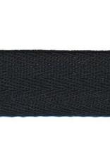 Keperband zwart 10 mm