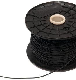 Hoedenelastiek zwart 1.3 mm