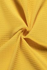 Wafel badstof  geel