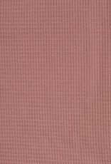 Wafel badstof oud roze