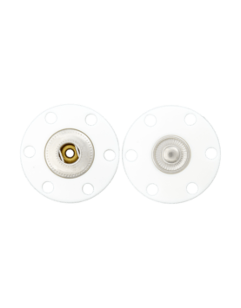 Drukknoop transparant 20 mm
