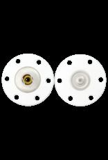 Drukknoop transparant 25 mm