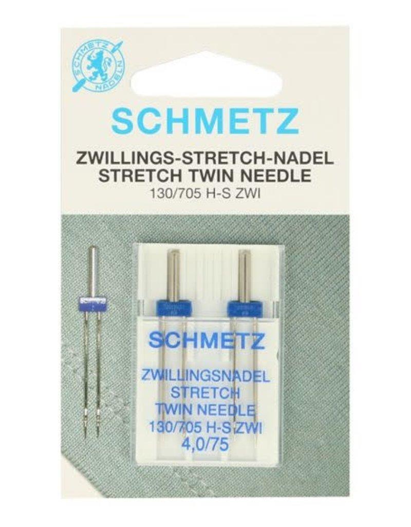 Tweelingnaald  Stretch Dubbel 4.0/75